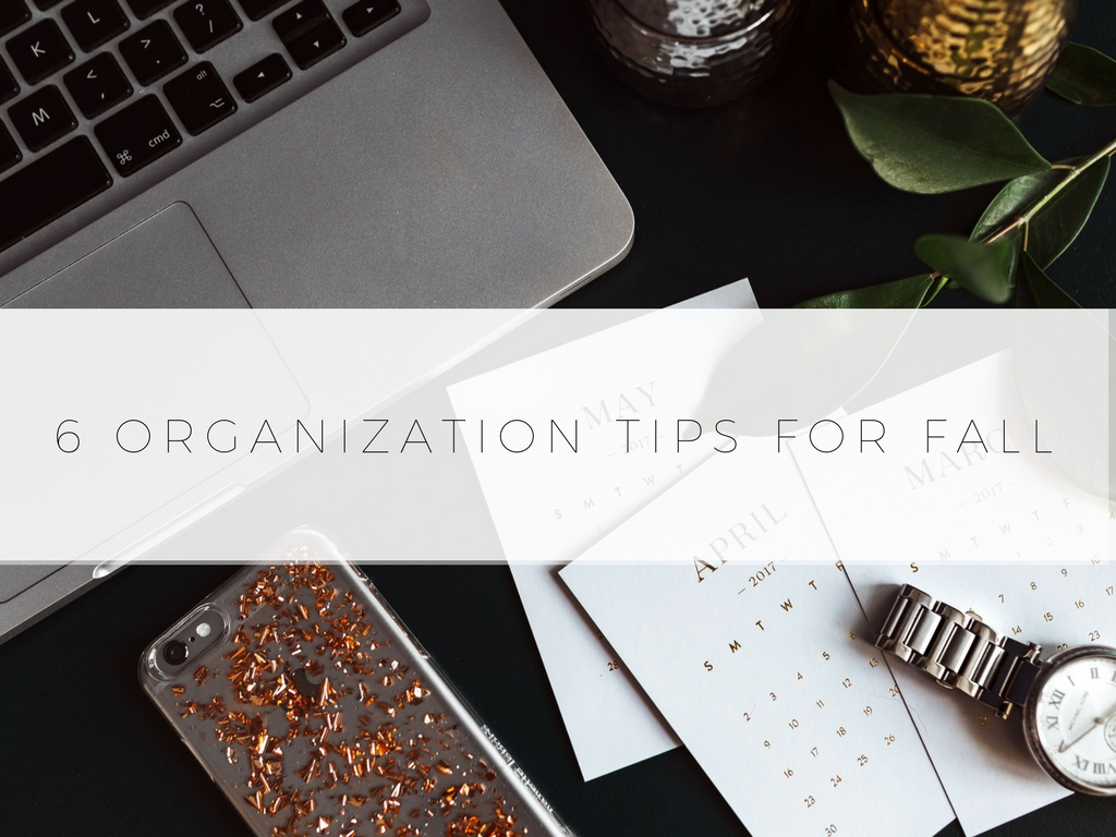 Organization Tips For Fall Blog Photo
