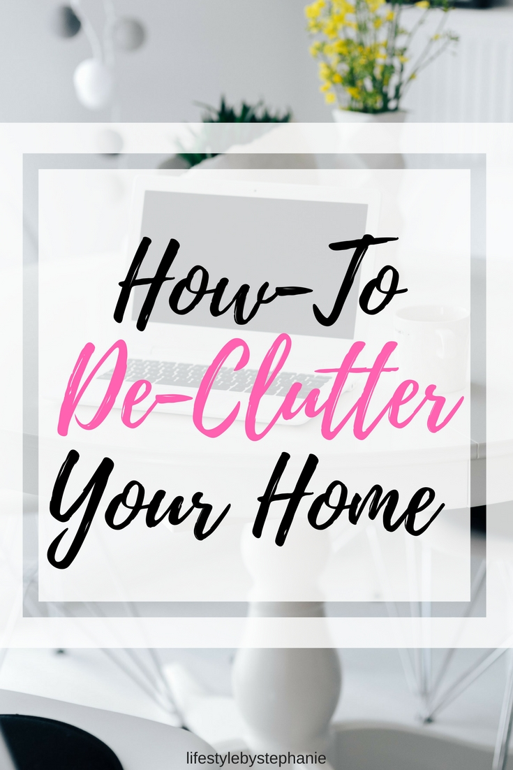 The best tips for de-cluttering your home. Learn how to organize your space, de-clutter your home & more.