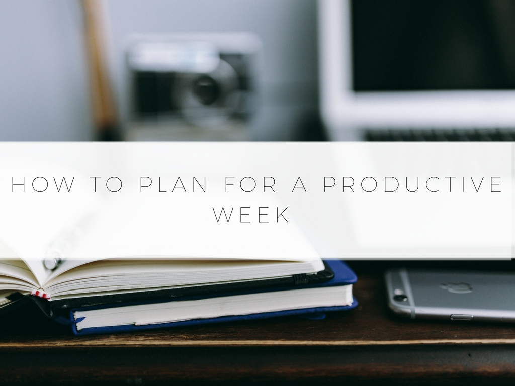 Step By Step Guide On How To Plan For A Productive Week. Includes Visualization Tips, To-Do List Tips, & More For Your Most Productive Week Yet.