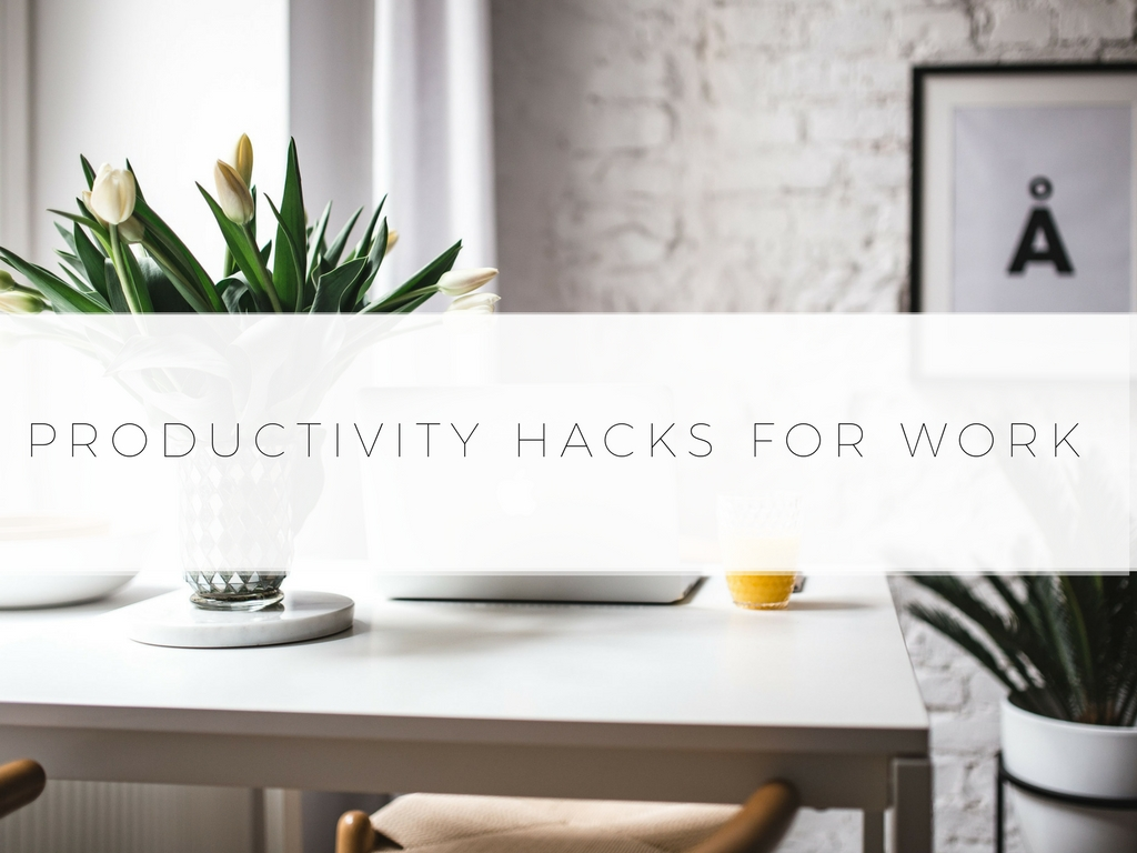Loved these productivity hacks for work. They are great for staying focused, being productive, & organizing your life at work.