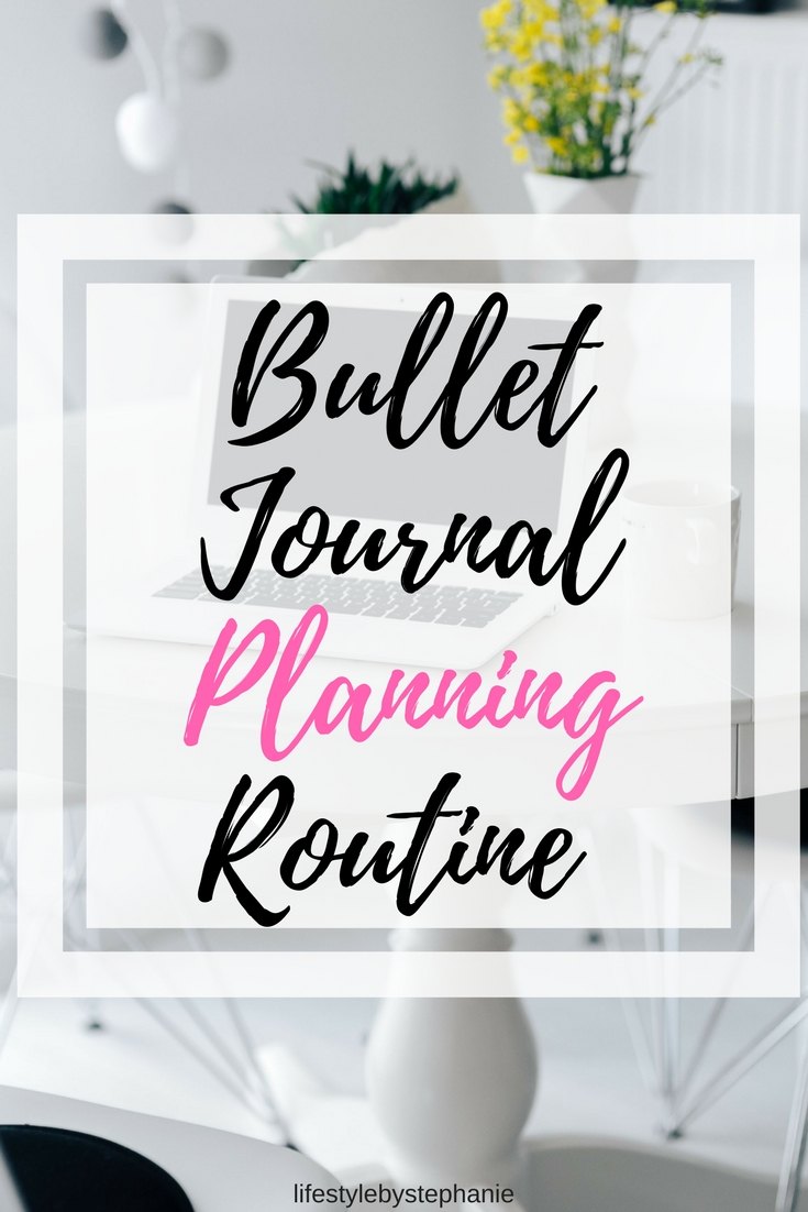 Learn the ultimate bullet journal planning routine so that you can achieve your goals, accomplish more, & have the most productive month yet using your bullet journal.